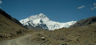 Mount Everest - die Straße Stockbild