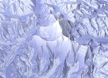 Mount Everest, Entlastungshöhe, Berge Himalaja-Karte vektor abbildung
