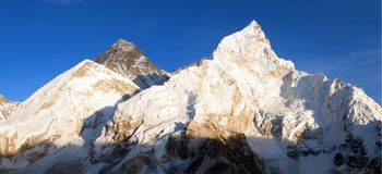 Mount Everest evening panoramic view Royalty Free Stock Photography