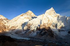 Mount Everest evening panoramic view Royalty Free Stock Image