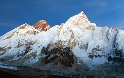 Mount Everest evening panoramic view Stock Images