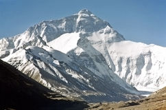 Mount Everest, the highest in the world, 8850m. Royalty Free Stock Photography