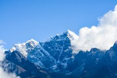 Mount Everest and Kathmandu. In October 2017 royalty free stock image
