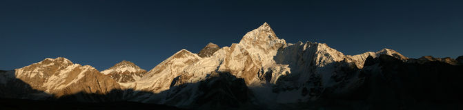 Mount Everest and the Khumbu Glacier from Kala Patthar, Himalaya Stock Image