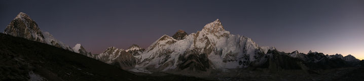 Mount Everest and the Khumbu Glacier from Kala Patthar, Himalaya Royalty Free Stock Photography