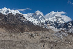 Mount Everest maximum & x28; Sagarmatha Chomolungma& x29; Arkivfoton