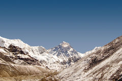Mount Everest - Nepal. This picture of Mt. Everest was taken from Gokyo's 5th Lake Stock Image