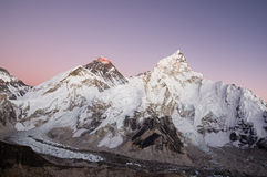Mount Everest And Nuptse Royalty Free Stock Image