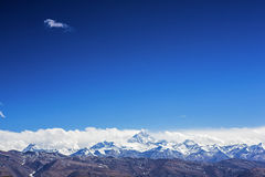 Mount Everest och bomullsflanelltempel Arkivfoton