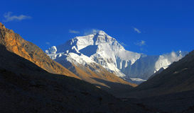Mount Everest, Peak. Mount Everest, North face, view from Tibetan base camp royalty free stock images