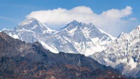 Mount Everest from Pikey peak - Nepal Stock Photo