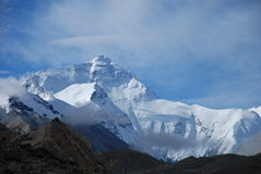Mount Everest. Summer noon, on the northern slope of Mount Everest Royalty Free Stock Photo