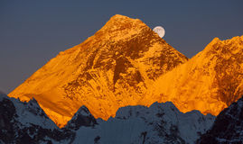 Mount Everest Sunset Royalty Free Stock Image
