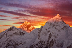 Mount Everest Sunset Stock Photography