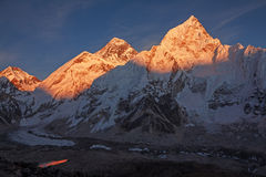 Mount Everest Sunset Royalty Free Stock Photography