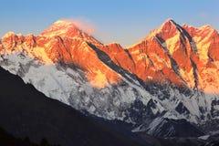 Mount Everest at sunset Stock Image