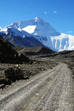 Mount everest from the trail of base camp Royalty Free Stock Photos