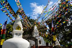Mount Everest und Kathmandu Lizenzfreie Stockfotos