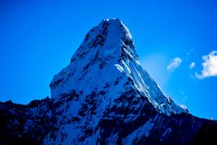 Mount Everest und Kathmandu Stockbilder
