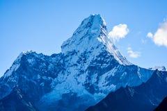 Mount Everest und Kathmandu Stockfotografie