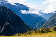 Mount Everest und Kathmandu Stockfotos