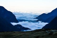 Mount Everest und Kathmandu Stockbild