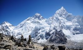 Mount Everest viewed from Kala Pattar Royalty Free Stock Photography