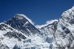Mount Everest viewed from Kala Patthar Stock Photo