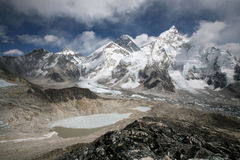 Mount Everest viewed from Kala Patthar Stock Images