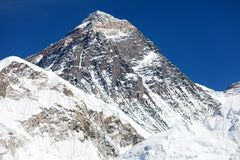 Mount Everest - way to Everest base camp - Nepal. Top of Mount Everest - way to Everest base camp - Nepal Stock Image