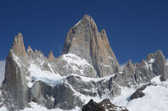 Mount Fitz Roy. Stuning and impressive Mount Fitz Roy near El Chalten In Patagonia, Argentina Stock Images