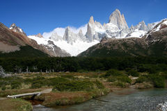 Mount Fitz Roy. Stuning and impressive Mount Fitz Roy near El Chalten In Patagonia, Argentina Stock Photos