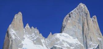 Mount Fitz Roy or Chalten Close-Up, Argentina. Monte Fitz Roy also known as Cerro Chaltén, Cerro Fitz Roy, or simply Mount Fitz Roy is a mountain in Patagonia stock images