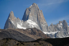 Mount Fitz Roy from El Chalten. Stock Photos