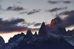 Mount Fitz Roy, El Chalten, Argentina stock images