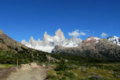 Mount Fitz Roy in El Chalten national park, Patagonia Stock Photos