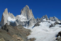 Mount Fitz Roy and glacier stock image