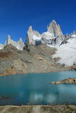 Mount Fitz Roy and lake Stock Image