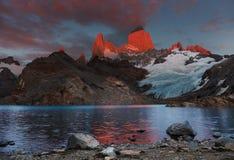 Mount Fitz Roy, Patagonia, Argentina stock photo