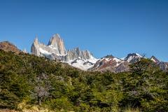 Mount Fitz Roy in Patagonia - El Chalten, Argentina Stock Photo
