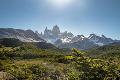 Mount Fitz Roy in Patagonia - El Chalten, Argentina Royalty Free Stock Image