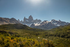 Mount Fitz Roy in Patagonia - El Chalten, Argentina Stock Photography