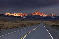Mount Fitz Roy at sunrise Royalty Free Stock Photos