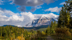 Mount Fitzwilliam in the Canadian Rockies. Mount Fitzwilliam is part of the Canadian Rockies in British Columbia. The lower half being dolomite and the upper stock images