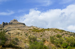 Mount. At the foot of mountain in the Crimea, Ukraine Royalty Free Stock Photo