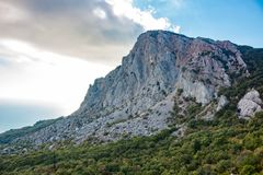 Mount `Foros` in Crimea. Mount `Foros`. The south coast of Crimea stock photography