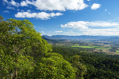 Mount French lookout. Overlooking Boonah and the Scenic Rim in Queensland during the day. The mountain is 579m above sea level and apart of the Moogerah Peaks Stock Photography