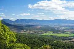 Mount French lookout. Overlooking Boonah and the Scenic Rim in Queensland during the day. The mountain is 579m above sea level and apart of the Moogerah Peaks Royalty Free Stock Image