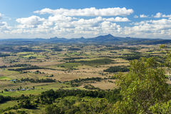 Mount French lookout. Overlooking Boonah and the Scenic Rim in Queensland during the day. The mountain is 579m above sea level and apart of the Moogerah Peaks Royalty Free Stock Photos
