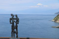 Mount Fuji в зазоре любовника стоковые изображения